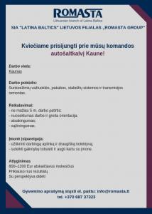 """servisas_SIA _Latina Baltics_ Lietuvos filialas """"Romasta group"""""""